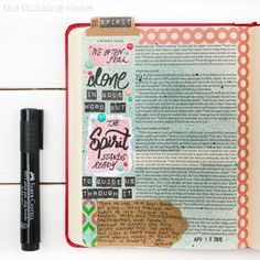 1 Kings 19:11-12 & Jet Hatmaker Qutoe from The Modern Girl's Guide to Bible Study | Just another stop on the Flip-Through Video Tour of My Journaling Bible!