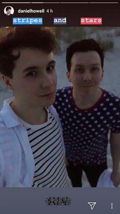 stars and stripes // dnp stories // dan Howell // phil lester // of july Phan Is Real, Dan And Phill, Phil 3, Danisnotonfire And Amazingphil, Connor Franta, Tyler Oakley, British Men, Phil Lester, Dan Howell
