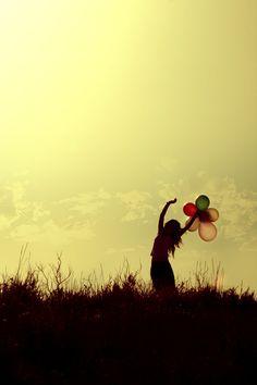 """""""lure"""" by ~ashtapot on deviantART. #ashtapot #photography #women #balloons #light #sky #grass"""