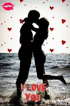 I Love You silhouette gif. Love Heart Images, I Love You Pictures, Love You Gif, Beautiful Love Pictures, Cute Love Gif, Beautiful Gif, Cute Love Quotes, Romantic Love Quotes, My Love