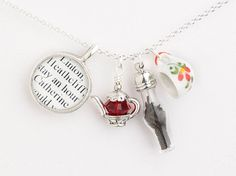 Tea at Wuthering Heights Necklace  Literary Necklace  Book