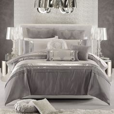 The Other Option of Luxurious Glam Bedding Sets: Nouveaux Ice Luxurious Glam Bedding Set