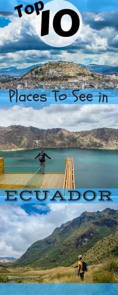 With this post I introduce you to the best places to see in Ecuador along the avenue of the volcanoes from north to south. Galapagos when it is best! Ecuador Travel, Peru Ecuador, Backpacking South America, South America Travel, Places To Travel, Places To See, Travel Destinations, Equador Quito, Galapagos Islands