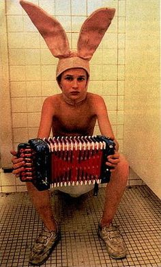 the bunny boy from gummo. once I find an accordian, we are making a gummo shoot happen!