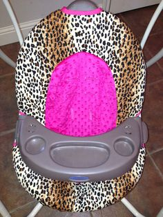 Swing Cover for Graco Infant Swing - Hot Pink and Cheetah on Etsy, $40.00