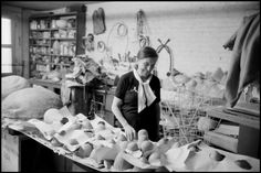 Louise Bourgeois in her studio.