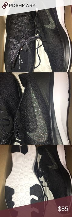 Glitter NIKES SZ 7 1/2 New in box 7.5 SPARKLE Yes that's a glitter Nike Logo. These are absolutely adorable. New been worn. Bought for my daughter but they don't fit. You will not be disappointed Nike Shoes Sneakers