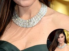 Idina Menzel in Forevermark diamond choker from 2014 Oscar Accessories | E! Online