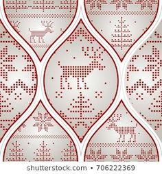 Scandinavian Seamless Pattern Stock Vector (Royalty Free) 90694426 Christmas Greetings, Christmas Cards, Christmas Background, Red And Grey, Scandinavian, Projects To Try, Royalty Free Stock Photos, Cross Stitch, Wraps