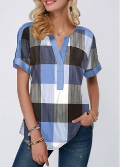 Stylish Tops For Girls, Trendy Tops, Trendy Fashion Tops, Trendy Tops For Women Source by women clothes Stylish Tops For Girls, Trendy Tops For Women, Blouses For Women, Women's Blouses, Plaid Outfits, Casual Skirt Outfits, Printed Blouse, Short Sleeve Blouse, Ladies Dress Design