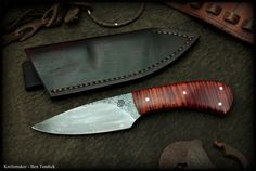 Frontier style belt knives - Ben Tendick Knife