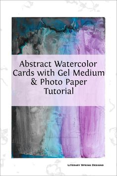 This simple trick makes it easy to create beautiful watercolor cards. The experience of creating the cards can be very calming. #watercolors #cards #art #tutorials