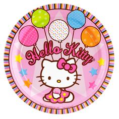 "Hello Kitty Balloon Dreams Dinner Plates - Package includes 8 paper dinner plates. Each measures 9"" in diameter."