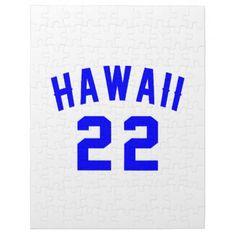 #Hawaii 22 Birthday Designs Jigsaw Puzzle - #giftidea #gift #present #idea #number #22 #twenty-two #twentytwo #twentysecond #bday #birthday #22ndbirthday #party #anniversary #22nd