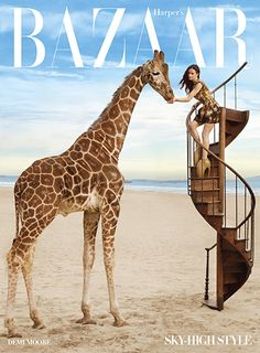 Harper's Bazaar, April 2010 - Winner of a MIN Editorial & Design Award for Best Cover Design, a Folio Ozzie Award for Best Cover, and one of Time's Top 10 Magazine Covers of 2010.