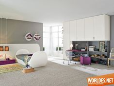 Коллекция письменных столов для детей. Дизайн мебели для детской комнаты фото 12