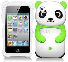 iTouch iPod Touch 4 8g 16g 32G 4th Gen Gel Skin Case Cover Green 3D Panda Bear   eBay