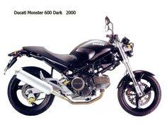 Ducati Monster 600 - 2000 - inizio a lavoricchiare, qualche soldo da parte riesco a metterlo, ed ecco che realizzo il sogno di una vita! LA moto! E che moto! Con questa si che si acchiappava.