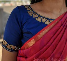 Source by asmaansary for women saree Cutwork Blouse Designs, Best Blouse Designs, Simple Blouse Designs, Stylish Blouse Design, Bridal Blouse Designs, Blouse Neck Designs, Blouse Styles, Raw Denim, Lehenga