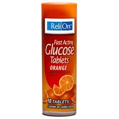 Relion: Orange Glucose Tablets, 1 Pk