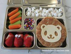Panda on sandwich thins lunch