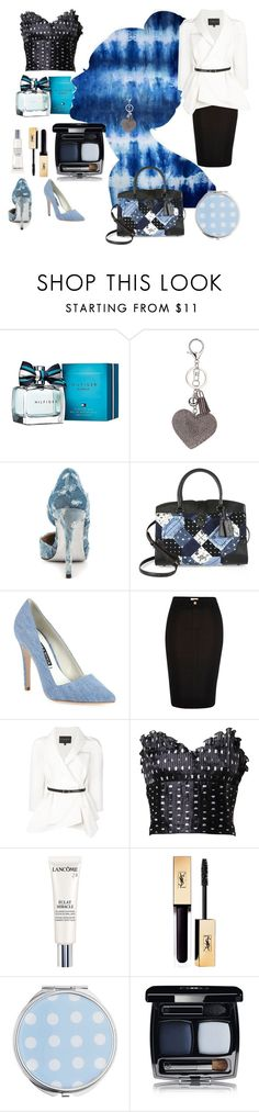"""The Blues"" by kiwipeach ❤ liked on Polyvore featuring Tommy Hilfiger, Oliver Gal Artist Co., Dorothy Perkins, Luichiny, Coach, Alice + Olivia, River Island, Carolina Herrera, Azzaro and Lancôme"