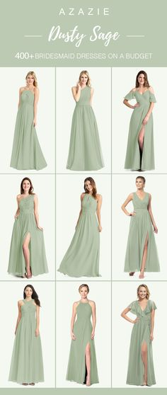 Dusty Sage Bridesmaid Dresses Dusty Sage Bridesmaid Dresses Shop for a large variety of dusty sage bridesmaid dresses at Azazie. With bridesmaid dresses from Azazie, you are sure to find a dusty sage bridesmaid dress for the perfect look for your wedding. Sage Bridesmaid Dresses, Azazie Bridesmaid Dresses, Fall Wedding Dresses, Wedding Bridesmaids, Azazie Dresses, Sage Dresses, Mob Dresses, Formal Dresses, Sage Wedding