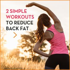 Back fat, bra bulge.whatever you call it, no one wants it. Here are two quick workouts focused on reducing back fat and toning those back muscles. Toning Workouts, Easy Workouts, Exercises, Workout Routines, Workout Motivation, Back Fat Workout, Butt Workout, Core Muscles, Back Muscles