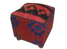 orientalisch Kelim Hocker Fußhocker Sitzhocker Sitzkissen Kilim cushion Stool  E