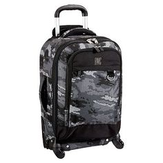 Getaway Digi Camo Carry-On Spinner #pbteen.....I think he needs his own suitcase....Christmas idea...?