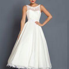 Simple but pretty tea length dress