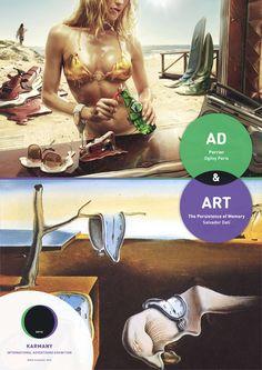 Ad & Art. Perrier, Ogilvy Paris &  The Persistence of Memory, Salvador Dali