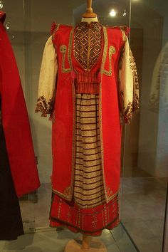 traditional womens costume, region of omis, croatia