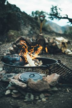 /// Dutch Oven Stove Campfire by Greggory Boydston