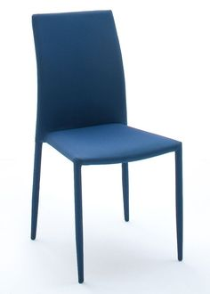 Stapelstuhl Schwarz Blau Mila 6er-Set 9005. Buy now at https://www.moebel-wohnbar.de/stapelstuhl-schwarz-blau-karriert-mila-6er-set-essstuhl-9005.html