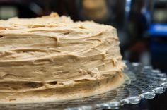 Butterscotch on butterscotch cake