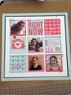 You. Right Now. Scrapbook layout using Project Life Honey Core kit by Mandy Reedyk (kidscollage)
