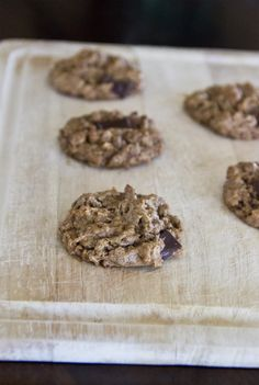 Almond Butter Choc Chip Cookies - The Vegan Food Blog