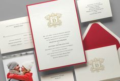 Kleinfeld Paper || Wedding Heraldry wedding invitation suite. Customize yours with Paper Passionista.