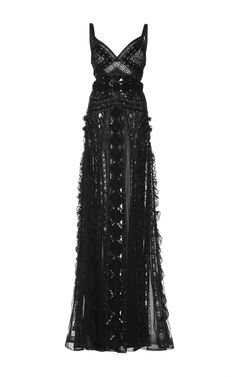 Zuhair Murad Embroidered Georgette Gown