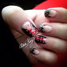 Corset lace nail art freehand @asiakaybeauty @asianailsandhair