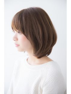 Haircuts For Medium Length Hair, Short Hair Cuts, Short Hair Styles, Short Bob Hairstyles, Pretty Hairstyles, Short Hair Korea, Ways To Lace Shoes, Japanese Short Hair, Shoulder Length Hair