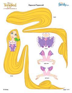 Rapunzel Paper Craft