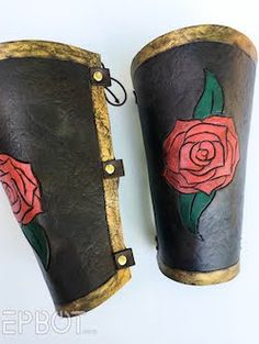 Everyone knows how great foam armor can look, but most of us find EVA foam a bit intimidating. It& kinda pricey, extremely labor-intensiv. Harry Potter Christmas, Harry Potter Diy, Mirror Panel Wall, Leather Bracers, Diy Wand, Quick Crafts, Hip Bag, Creepy Dolls, Floating Candles