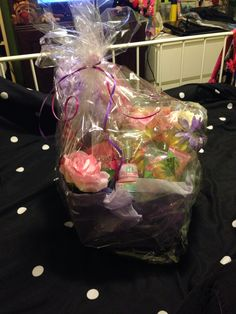 Mother's Day gift basket wrapped