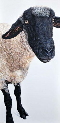 """Ester Curini, Louise, 2011, acrylic on canvas, 48"""" x 24"""""""