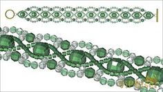 Beaded Emerald Bracelet. Tutorial. Step 6