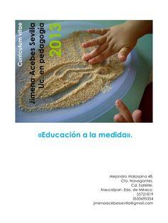 Jimena Acebes Sevilla, pedagoga, Curriculum Vitae, mayo 2013.