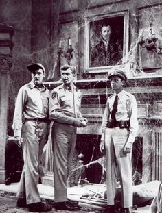 The Haunted House -Barney, Andy and Gomer Pyle (played by Jim Nabors) investigating a supposedly haunted house.