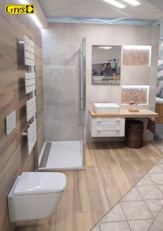 Kolekce Acero imitace dřeva a Lukka imitace betonu v koupelně 18 Bathroom Box, Toilet, Police, 18th, Bathtub, Wood, Design, Standing Bath, Flush Toilet